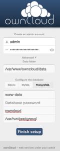 ownCloud with PostgreSQL peer authentication